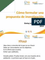 Como Formular Una Propuesta de Investigacion