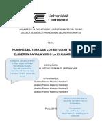 Plantilla de Informe Descriptivo Bibliográfico