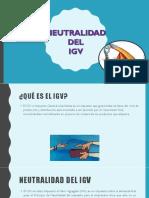 neutralidad Del Igv