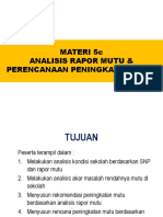 5.c. Analisis Rapor Mutu Dan Perencanaan PM