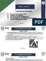 La Comunicación Oral.