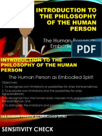 Lesson 3- The Human Person as Embodiet Spirit