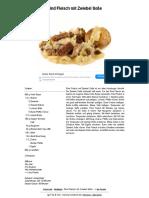 Rindfleisch mit Zwiebelsoße
