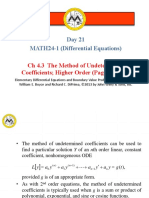 __23.4.3 - The Method of Undetermined Coefficients Higher Order