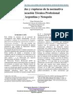 Continuidades y rupturas de la normativa sobre Educación Técnica Profesional en Argentina y Neuquén