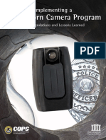 DOJ Implementing A Body-Worn Camera Program - Recommendations & Lessons Learned