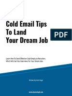 Cold Email Tips to Land Your Dream Job