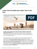 Frases Útiles en Inglés Para Viajar_ 'Have a Safe Trip'! - Infoidiomas