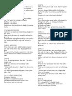 Lyrics - English Month