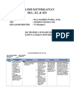 Analisis Skl, Ki,Kd Kelas Vi