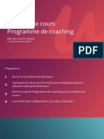 UFB Coaching Présentation 2019 - Patrick Taranto