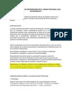 ENSAYO DE ACUMULACION DE PRETENCIONES- nicaragua.docx