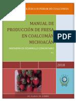 Manual Para Cultivo de Fresa en Coalcoman