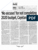 Business World, Oct. 17, 2019, No excuses for not completing 2020 budget, Cayetano says.pdf