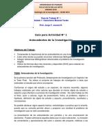 Guía de Trabajo 1 - Antecedentes de Investigación - Metodología de la Investigación 2019
