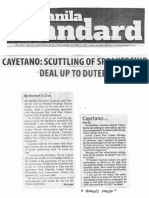 Manila Standard, Oct. 17, 2019, Cayetano scutting of Speakership deal up to Duterte.pdf