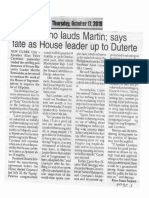 Peoples Journal, Oct. 17, 2019, Cayetano lauds Martin says fate as House leader up to Duterte.pdf