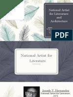 Contemporary National Artist Report