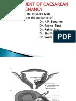 Managment of Scar Pregnancy