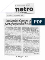 Philippine Star, Oct. 17, 2019, Malasakit Centers critical part of expanded health care.pdf