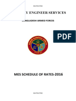 Schedule of Rates MES Bangladesh Part-1