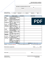 Formato Informe Observación de Clase