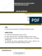 Energy Performance of Intelligent Building Envelopes