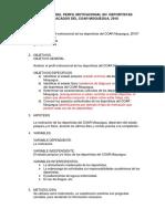 Analisis Del Perfil Motivacional de Los Deportistas Del Coar Moquegua