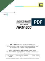 Manual utilización rele NPM800