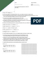 1st Summative Test in General Mathematics