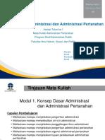 Materi Inisiasi 1 Konsep Dasar Administrasi Dan Administrasi Pertanahan