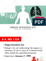 LESSON 9 Organ Donation Act
