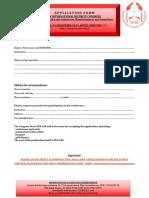application form - congres 2019