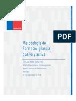 Metodologia de farmacovigilancia activa y pasiva