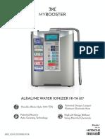 Buder Alkaline Water Model Brochure