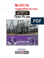 Transformer protection relay testing