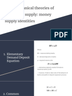 10.7 Mechanical Theories of the Money Supply