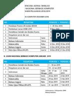 Rencana Jadwal Simulasi 2018-2019
