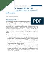 Honduras IMF 2015 08 Resumen Ejecutivo