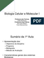 1 Aula Biologia Celular e Molecular