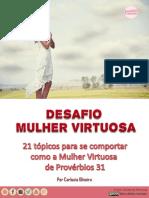 E-book Desafio Mulher Virtuosa