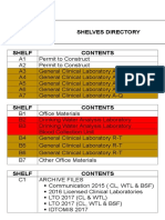 Shelves Directory 2018 Revised