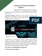 Blockchain Development Company-OG Software Solutions