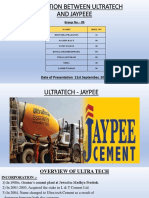 Group No 5 - Ultratech - Jaypee 20th Sep-1