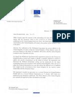 La lettre de Jean-Claude Juncker à Donald Tusk
