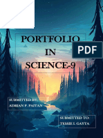SCIENCE PORTFOLIO AND REFLECTION (GRADE 9)