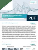 Siemens Business Fact Sheets