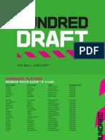 The Hundred Men's Draft Player List