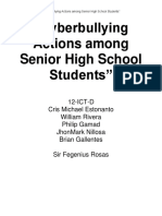 Cyberbullying Actions Among Senior High School Students