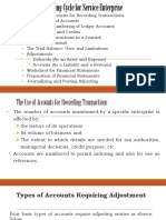 Chapter 3 - Accounting Cycle for Service Enterprise